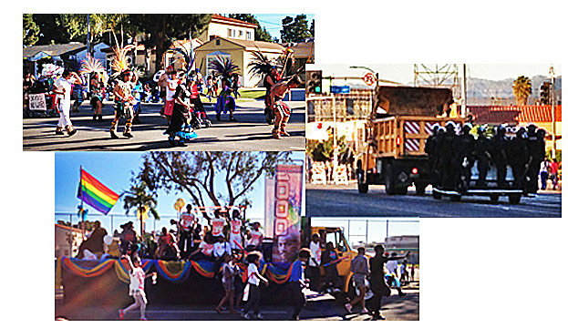 Parts of the parade