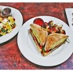 Morning Hash, BLTA & Crunchy French Toast