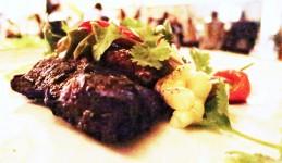 Hole-rubbed flat iron steak