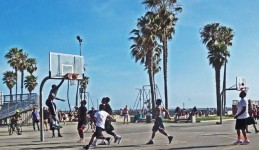 Stop to enjoy the Venice Beach sites